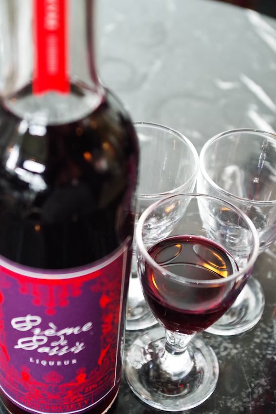 Herve Martin's Crème de Cassis From Odd Society Distillery