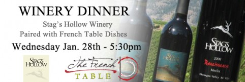 stag's hollow winery dinner at french table