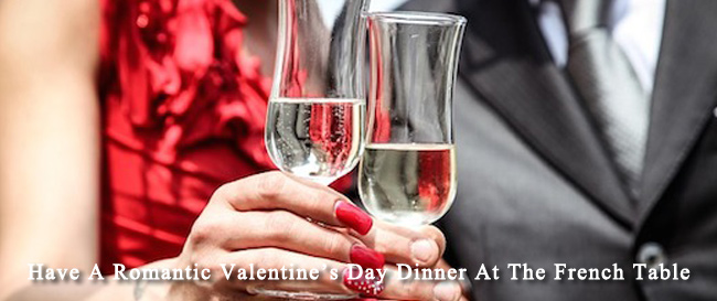 valentine's day dinner at the french table