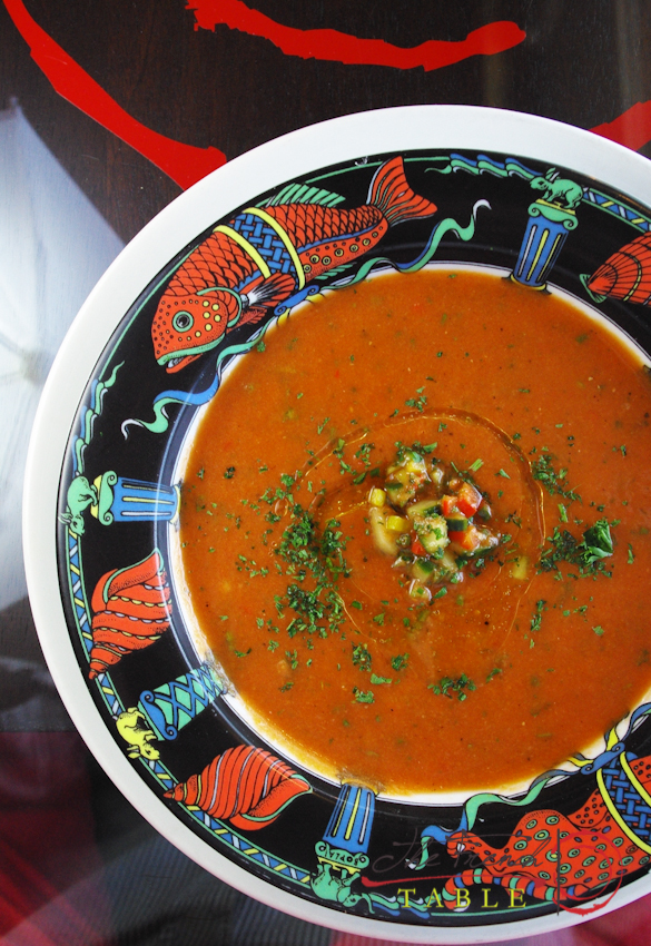 You are currently viewing The French Table's Gazpacho Recipe