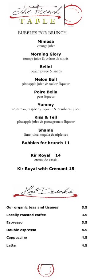 french restaurant main street brunch beverages