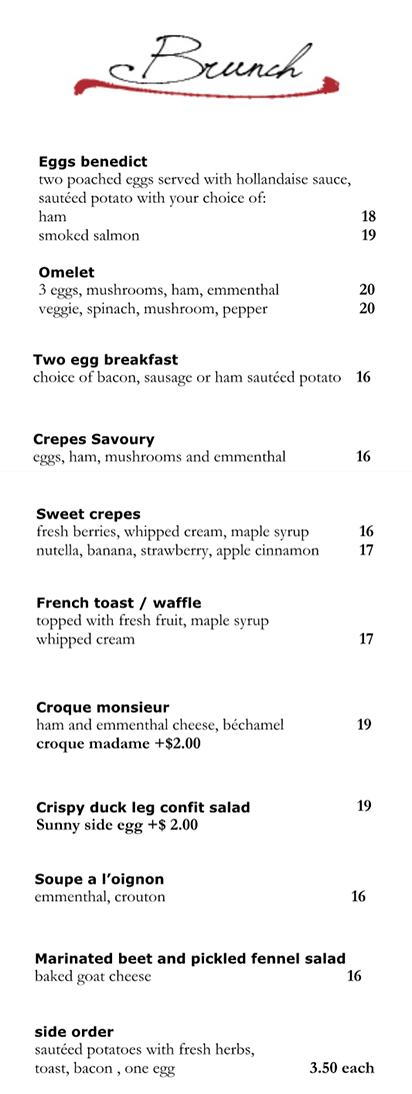french table vancouver brunch menu